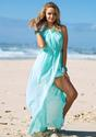Side Slit Maxi Dress - Mint - Lookbook Store