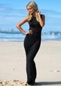 Sheer Mesh Maxi Dress - Black - Lookbook Store