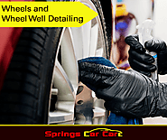 Wheels And Wheel Well Detailing - Springs Car Care | Cleaner than ever