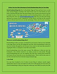 5 Ways You Can Take Advantage of Social Bookmarking | authorSTREAM