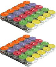 Goyal Traders Multicolour Lac Tea Light Candle (Pack Of 50) Candle Price in India - Buy Goyal Traders Multicolour Lac...