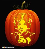Princess Leia Pumpkin Carving Stencil