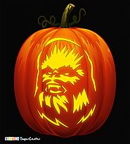 Chewbacca Pumpkin Carving Stencil
