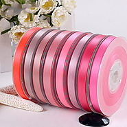 Polyester Double Face Satin Ribbon Red Series Satin Ribbon