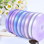 Polyester Double Face Satin Ribbon Violet Series Satin Ribbon