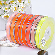 Polyester Double Face Satin Ribbon Yellow Series Satin Ribbon