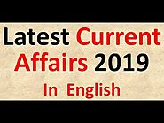 Latest Current Affairs 2019 in English