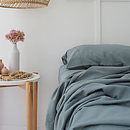 Sleep In Our Silky Soft Teal Sheets