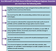 Which tasks will you accomplish as a Microsoft Certified Azure Artificial Intelligence Associate?