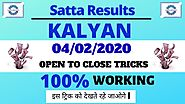 Kalyan Matka Single Open To Close 100% Working Formula 04/02/2020 Kalyan Guessing Today