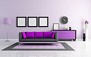 Purple and Gunmetal Grey Color Combination