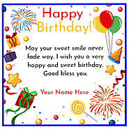 Happy Birthday Wishes Card With Name and Photo