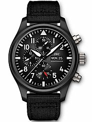 Replique IWC Pilot's Montre Double Chronograph IW377801 - €116.00