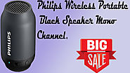 Philips Wireless Portable Black Speaker Mono Channel.