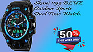 xclusiveoffer Skmei 1155 BLUE Outdoor Sports Dual Time Watch.