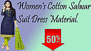 Xclusiveoffer Women's Cotton Salwar Suit Dress Material.