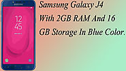 Xclusiveoffer Samsung Galaxy J4 With 2GB RAM And 16GB Storage In Blue Color.