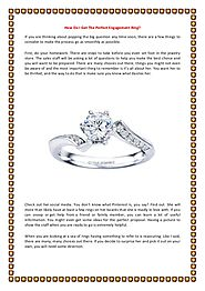 How Do I Get the Perfect Engagement Rings- Brian Michaels Jewelers
