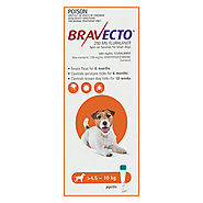 Bravecto Spot On for Small Dogs (4.5-10 Kg) Orange