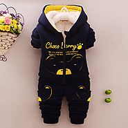 Warm winter sports Set Children's suits Boys and girls coat and pants 2 pieces Sets Children's winter Clothing Kids c...