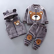 Boys Girls Winter Clothes Children Clothing Sets Kids Sport Suit Cartoon Bear Clothes Girls Clothing Set Kids Tracksu...