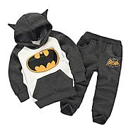 Children Clothing Set Baby Boys Clothes Winter Kids Clothes Boys Batman Hooded+Pants Sport Suit Costume For Boys 1 2 ...