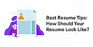 Best Resume Tips: How Should Your Resume Look Like? – Pagehits