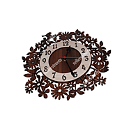 Wall Clock - Unique Modern Leaves Design