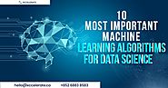 10 Most Important Machine Learning Algorithms for Data Science | Xccelerate