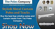 Buy Stylish Metal Curtain Poles and Tracks Online