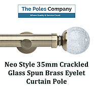 Shop Now! Neo Style 35mm Crackled Glass Spun Brass Eyelet Curtain Pole