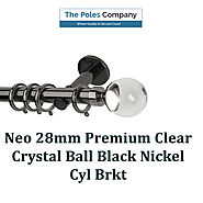 Shop Now! Rolls 28mm Neo Premium Clear Crystal Ball Finial Black Nickel