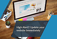 High Alert Update your website immediately