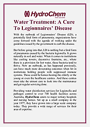 Water Treatment A Cure to Legionnaires Disease