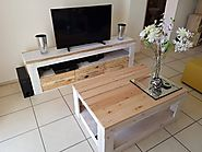 Unique Pallet TV Stand And Table Ideas For Drawing Room - Sensod - Create. Connect. Brand.