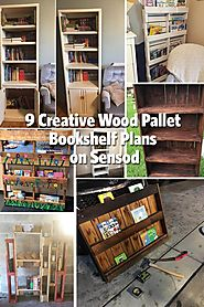 9 Creative Wood Pallet Bookshelf Plans on Sensod - Sensod - Create. Connect. Brand.