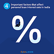 4 Important factors that affect personal loan interest rate in India