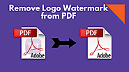 How to Remove Watermark Logo From PDF Files – Erase Image Watermarks