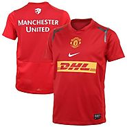 Nike Manchester United FC Youth Prematch Jersey - Red