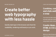 Design in the browser with web fonts and real content — Typecast