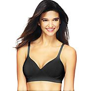 Hanes Women's Perfect Coverage Comfort Flex Fit Wirefree Bra-MHG260 Black Large – My Discontinued Bra