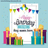 Happy Birthday Card With Name Edit Free Download