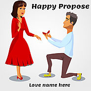 Happy Propose Day Greetings Card With Name