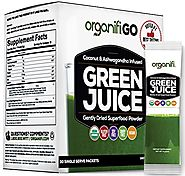 Organifi: GO Packs - Green Juice - Organic Superfood Supplement Powder - 30ct - USDA Certified Organic Vegan Greens -...