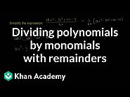 Divide polynomials by x (with remainders) (video) | Khan Academy