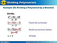 Visual of division by binomials