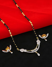 Exclusive Long Mangalsutra Designs at Anuradha Art Jewellery.