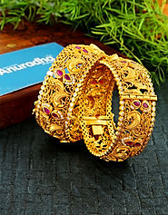 Explore a collection of designer bangles for girls and handmade bangles only at Anuradha Art Jewellery.