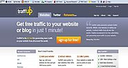 Traffup.net is the #1 place to get more website traffic, Twitter followers and retweets.