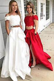prom dress high low